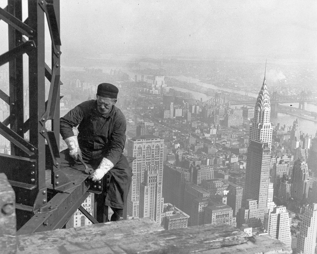 New York skyscraper worker.